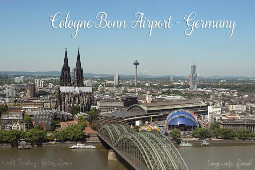 Cologne Bonn Airport – Germany. 1 hour 36 mins from Spangdahlem, and 2 hours 20 mins from Ramstein
