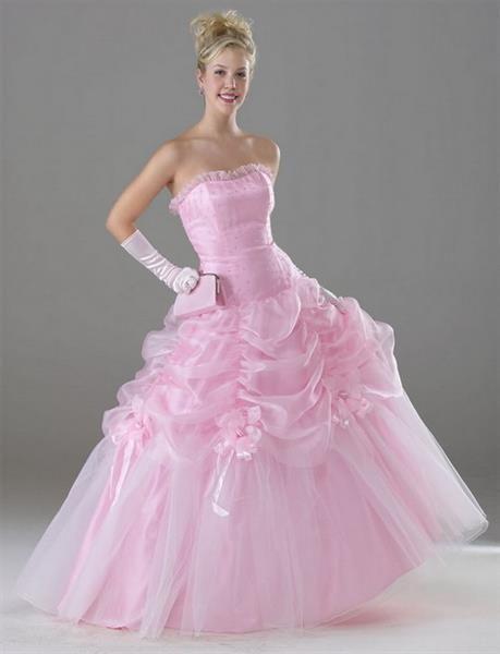 Свадебное розовое платье принцесса