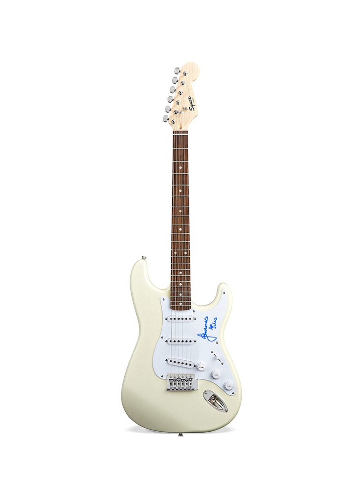 Julian Casablancas Autographed Fender Style Squire Guitar by New Dimensions at Gilt