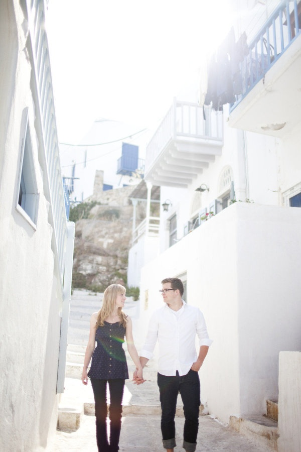 Engagement shoot in Santorini, Greece. Photography by whitephotographie.com  http://www.stylemepretty.com/gallery/picture/658183