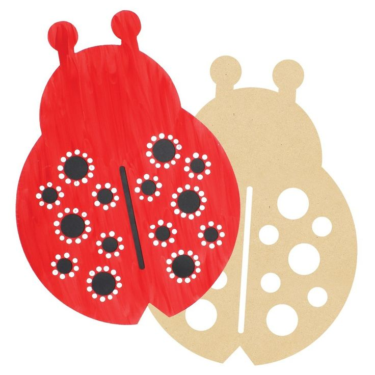 Creating a nature themed room? This Giant Wooden Ladybug will look great on your wall - CleverPatch