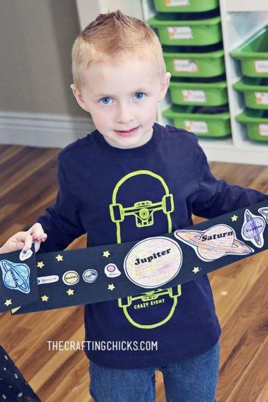 DIY Kids Solar System Craft