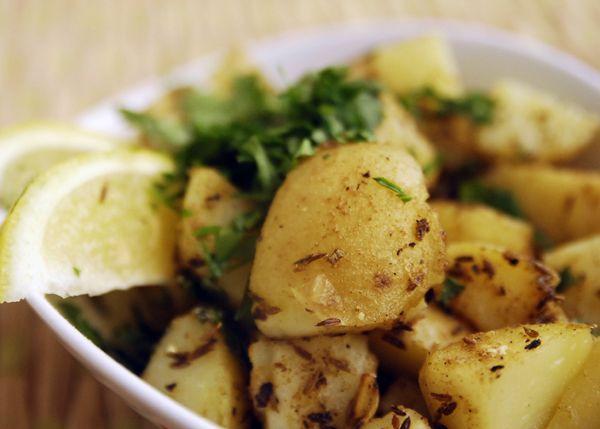 Amchur-Sautéed Potatoes Recipe  spicetrekkers.com