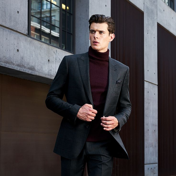 How to Pull Off a Turtleneck with Suit Look with Ease & Style: https://blacklapel.com/thecompass/mens-turtleneck-with-suit/?utm_campaign=01-17-2017-the-compass-mens-turtleneck-with-suit&utm_medium=social&utm_source=pinterest&utm_content=01-17-2017-compass-cover&utm_term=