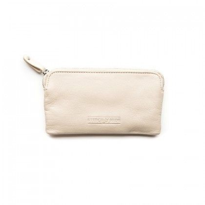 STITCH & HIDE Lucy Leather Pouch Ivory