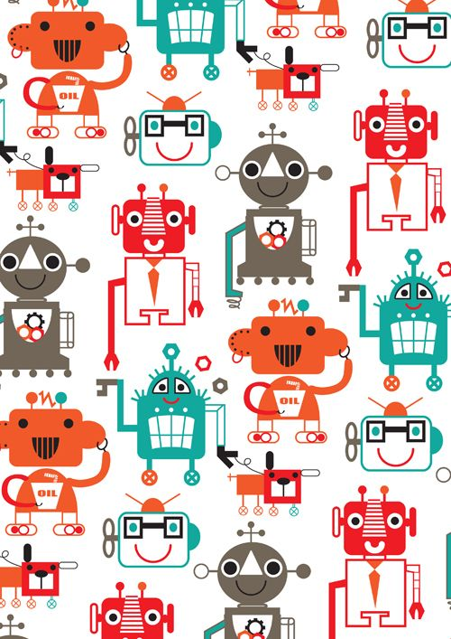 Robot Characters by Stephanie Hinton