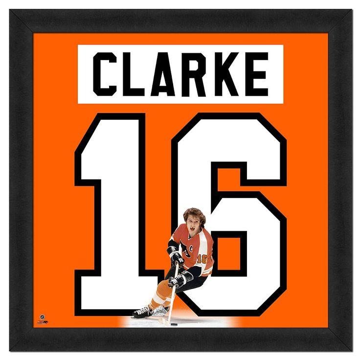 Bobby Clarke Framed Jersey Photo Wall Art, Multicolor