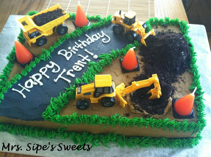 Birthday Cake Ideas Digger : Best 25+ Construction birthday cakes ideas on Pinterest ...