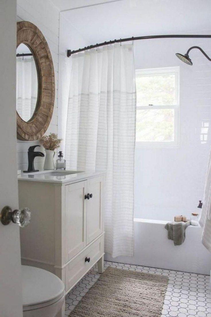 62 Stunning Farmhouse Bathroom Tiles Ideas In 2020 Modern Farmhouse Bathroom Home Remodeling Bathroom Inspiration