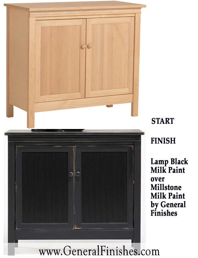Change a room with just a coat of milk paint from General Finishes on your  unfinished   Unfinished Wood FurnitureBlack. 18 best Ready to Match Water Based Stain images on Pinterest