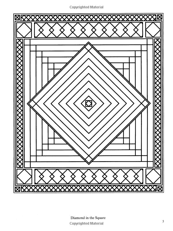 Traditional Patchwork Quilt Designs (Dover Design Coloring