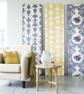 a nice alternative for  the traditional paint or wallpaper