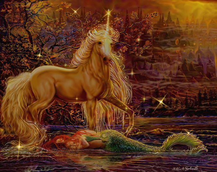 картинки лошадей с русалками для мамы папой
