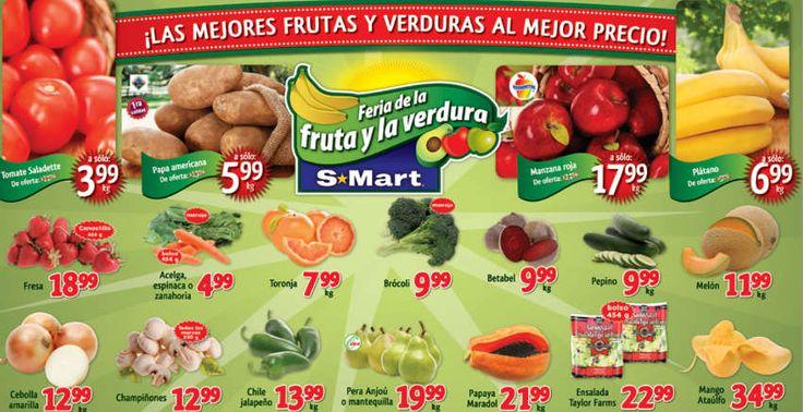 Frutas y Verduras S-Mart Febrero 18 al 20 Frutas y Verduras S-Mart: como cada semana tiene sus 3 días de ofertas y promociones de frutas y verduras, éstas son algunas ofertas (tomadas delfolleto OfertasS-MartdeJuarez): - Tomate Saladette $3.99 Kg - Papa Americana $5.99 el Kg. - Manzana roja a... -> http://www.cuponofertas.com.mx/oferta/frutas-y-verduras-s-mart-febrero-18-al-20/