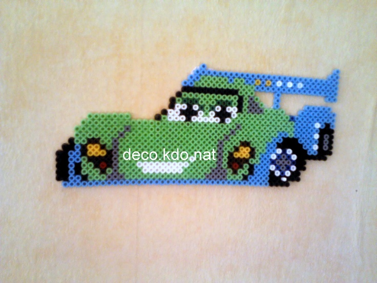 Carla Veloso Cars Pixar hama beads by decokdonat