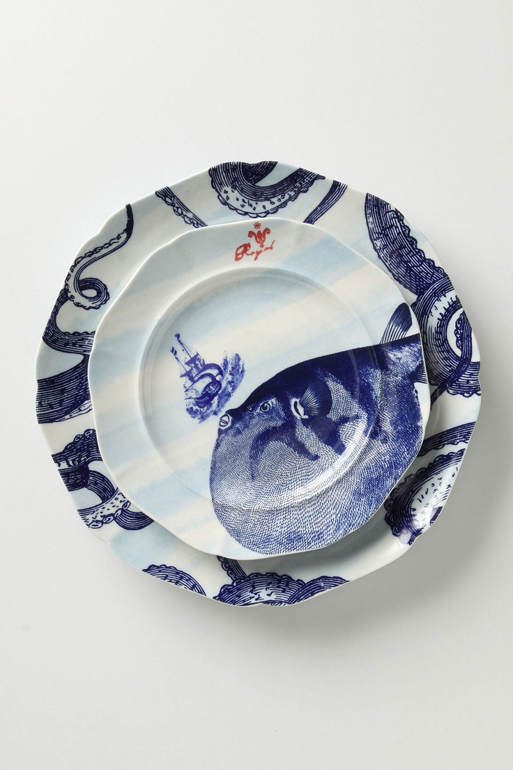 From The Deep Dinner Plate & 14 best octopus dinnerware images on Pinterest   Beach cottages ...