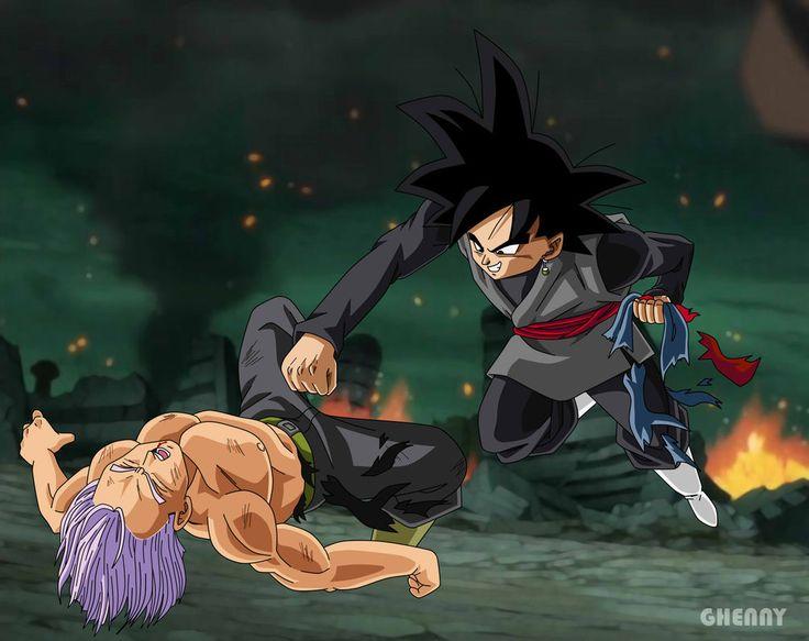 Dragon Ball Super - Black Goku vs Trunks by ghenny.deviantart.com on @DeviantArt