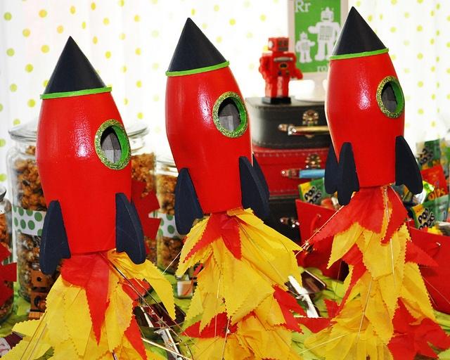 Rocket Table Decorations
