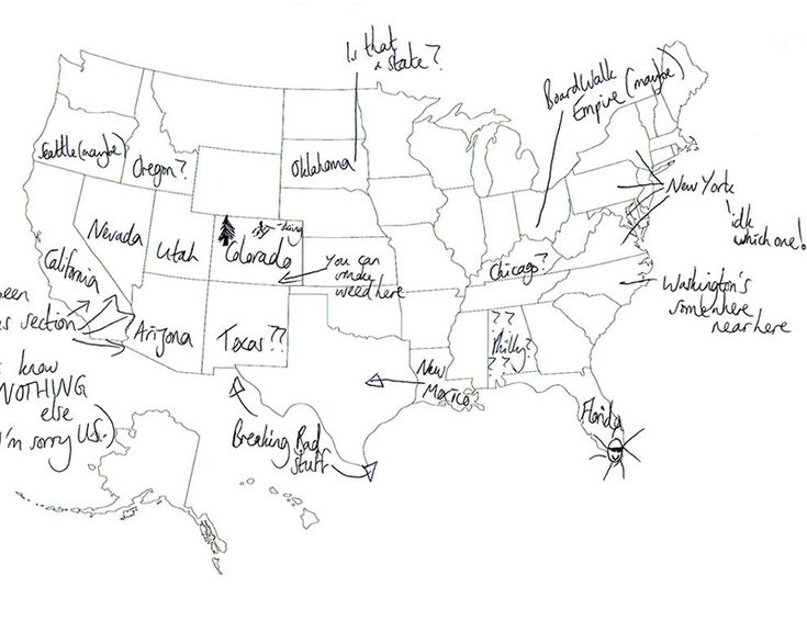 Best Brits Naming States Images On Pinterest United States - Us map drawn by brits