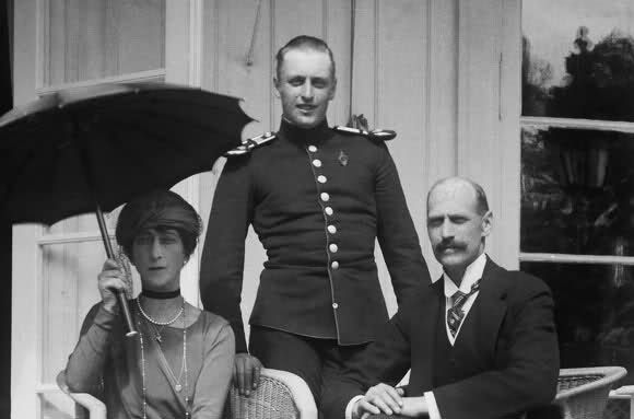 King Haakon VII, Queen Maud, Crown Prince Olav