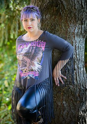 """This flying high TOO fast brand tee is a MUST HAVE, from the sweet eagle graphic to the fringe, pair it with some leather leggings and you are set. The 80's called to say """"That shirt is like totally rad"""". https://www.shopculture.ca/shop/Womens/details/FlyHighFringeTop"""