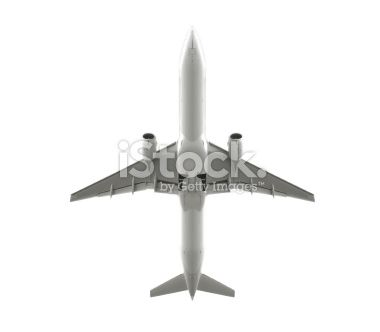 Isolated passenger airplane Royalty Free Stock Photo