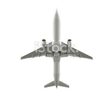 Isolated passenger airplane Royalty Free Stock Photo