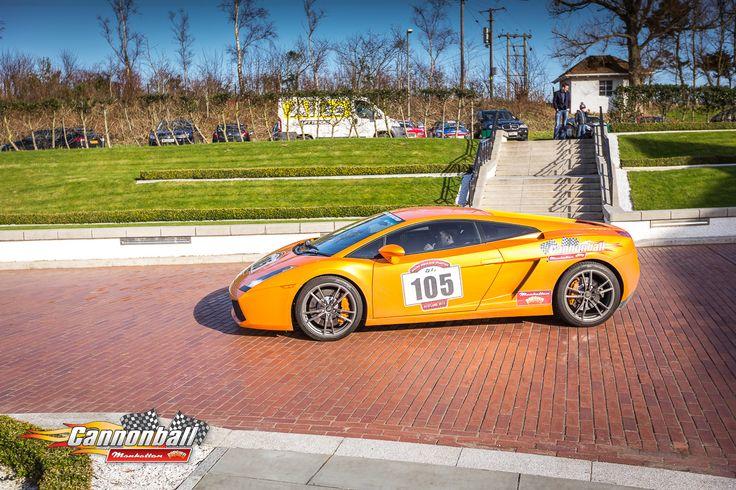 Orange Lamborgini showing off