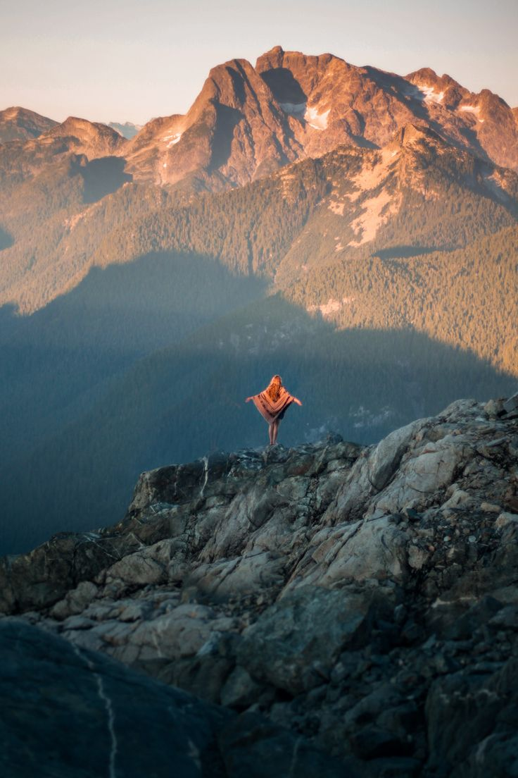 """"""" on top of the Golden Ears mountains in BC, Canada. """""""
