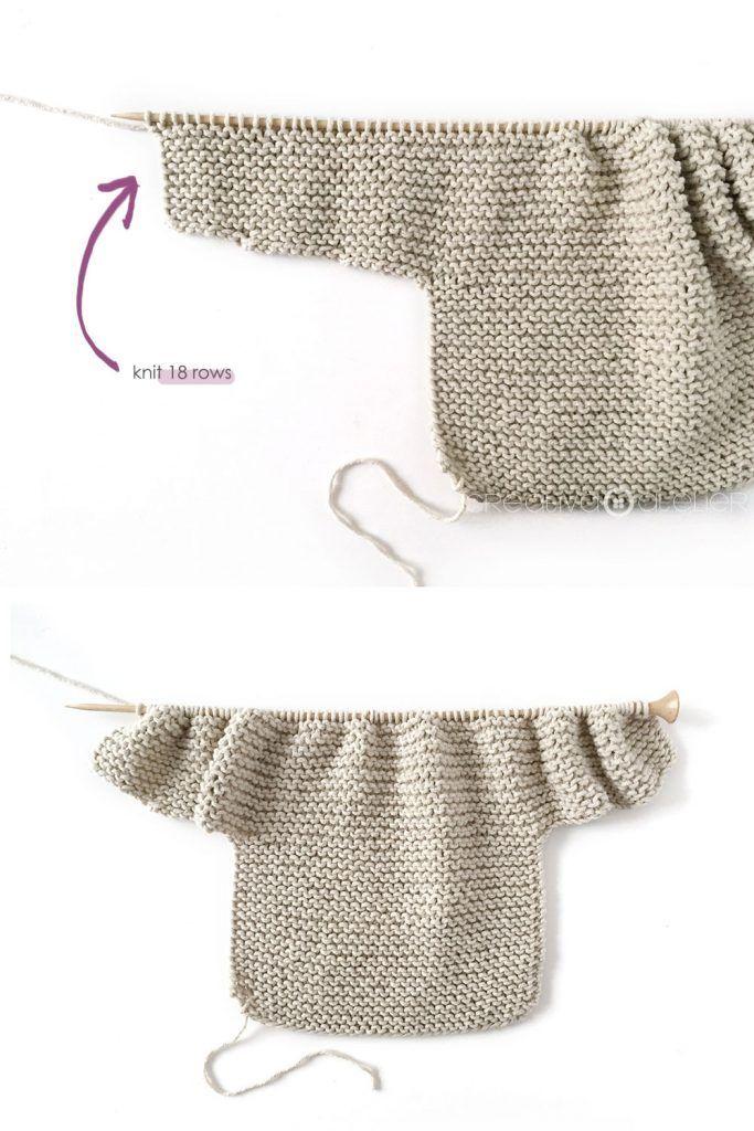 Gestrickter Kimono – NUR Baby Jacket Pattern & Tutorial