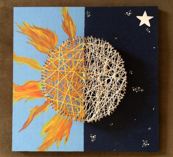 Sun and Moon String Art by HaleyzCommentz on Etsy, $38.00