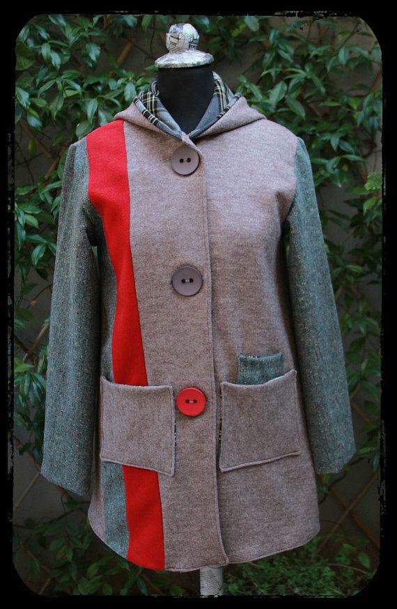 """Eating The Goober"" wool coat"