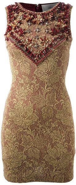 Amen Multicolor Embellished Dress
