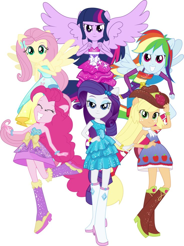 my little pony equestrian girls.the six sages