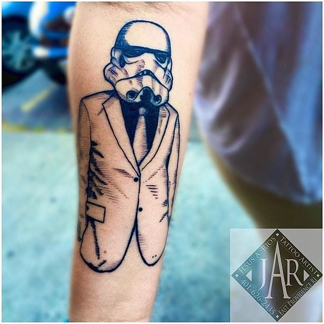 Stylish Stormtrooper Tattoo