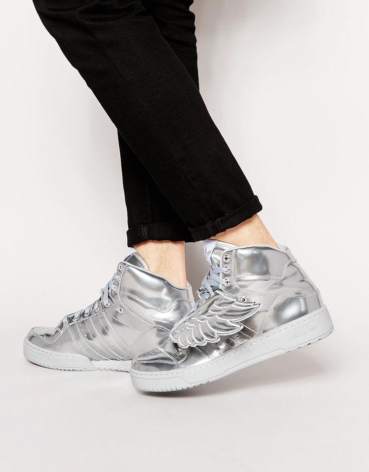 Adidas Originals x Jeremy Scott baskets métallisées - 221,99€ @Asos