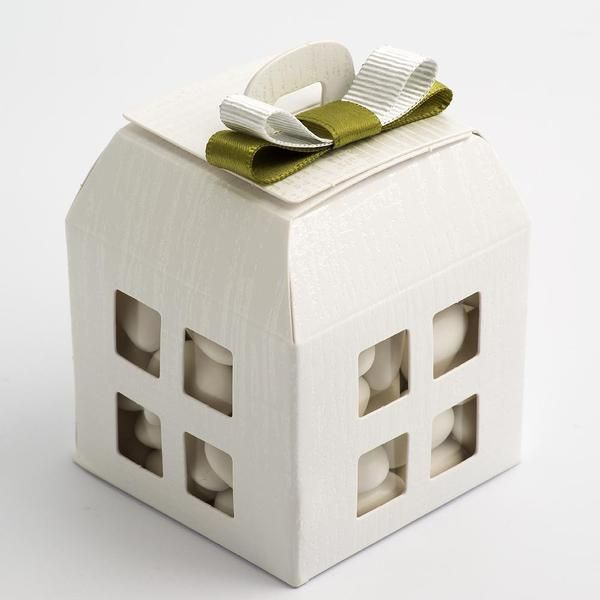 White Linen House Lantern Box
