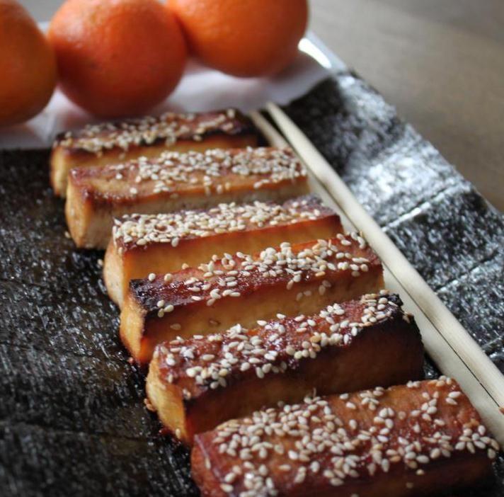 treat sesame sesame baked sesame tofu honey sesame i am honey soy tofu ...
