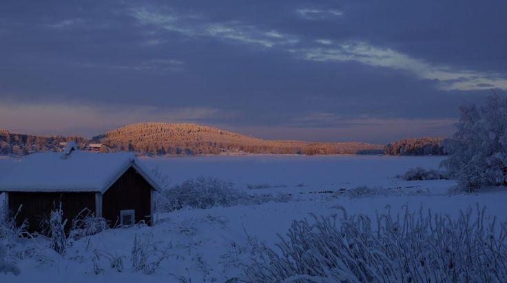 Tornio Valley in Winter in Lapland
