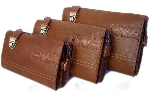 Оригинальный клатч коричневый Giorgio Armani в интернет-магазине Шопоголик