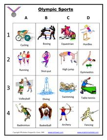 Olympics Games, ESL Vocabulary Worksheets, Printables Exercises, Beijing 2008…
