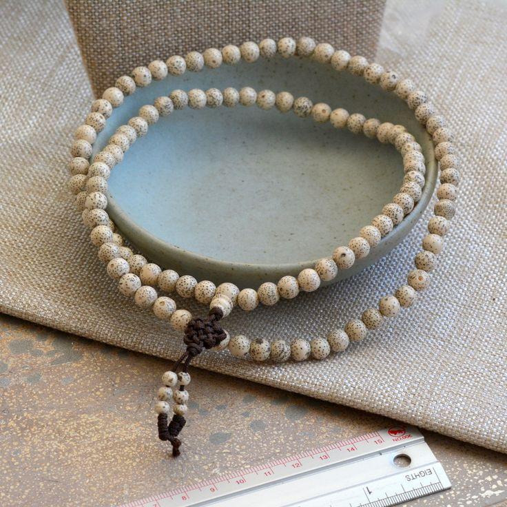 Tibetan Lotus Seed Bead Mala, 108 Lotus Seed Beads, Natural Lotus Seed, Mala Beads, Lotus Seeds, Mala Making Beads, Prayer beads, LUM16-1220 by WanderlustWorldArts on Etsy