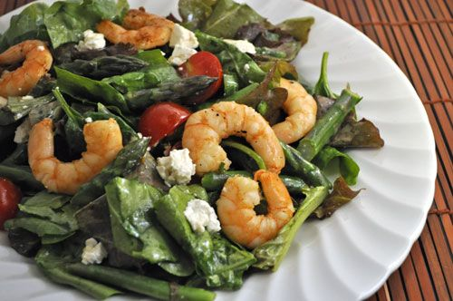 Spring Shrimp, Asparagus and Spinach Salad; Disappointments