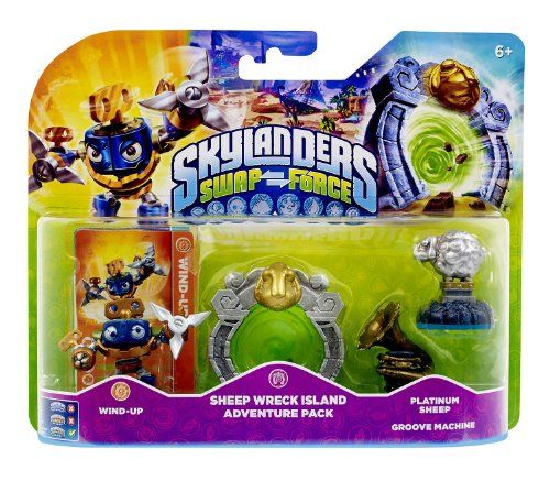 Figurine Skylanders : Swap Force – Wind Up + Sheep Wreck Island + Platinum Sheep + Groove Machine