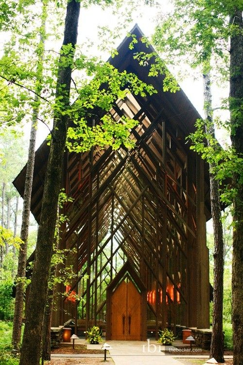 Thorncrown Chapel, Arkansas. The only reason I would ever want to go to this state. Beyond incredible!