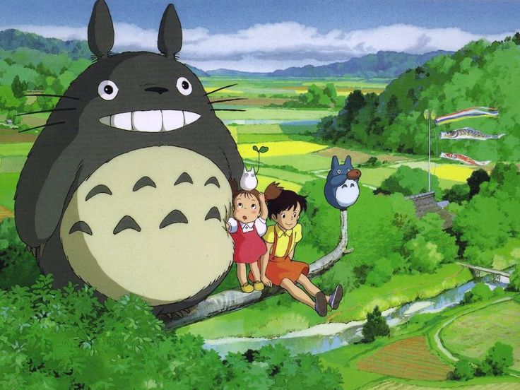 "A production still from one of my favorite films, ""My Neighbor Totoro"" (となりのトトロ - Tonari no Totoro), a 1988 Japanese animated fantasy written and directed by Hayao Miyazaki and produced by Studio Ghibli..."