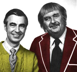 "Mr. Rogers and Captain Kangaroo - at first, my reaction was,""aww, how cute! I have so many early memories attached to watching these guys on TV."" Then I looked, again, and it was a lot more, ""wow, this has a serious creep factor, too."" LOL"