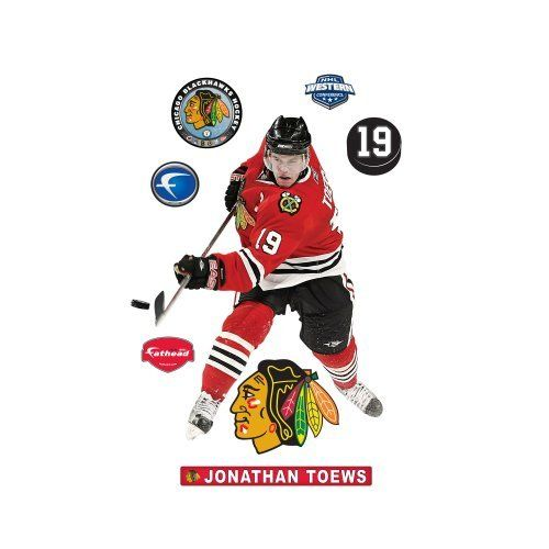 NHL Jonathan Toews Wall Decal by Fathead. Save 8 Off!. $91.77. 71-71217 NHL Player: Jonathan Toews Features: -Name: Daniel Alfredsson.-Team: Ottawa Senators.-100pct Die-cut images that appear life-like and three dimensional.-State-of-the-art printing processes deliver outstanding clarity and sharpness.-Just peel and place, no tape, no tacks, no clutter.-The patented, low-tack adhesive lets you move your fathead as often as you like.-Thick high-grade vinyl resists tears, rips and…