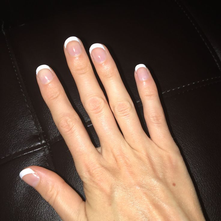 Easy DIY Vinyl French Tip Manicure. Tips made with Cricut craft cutting machine.