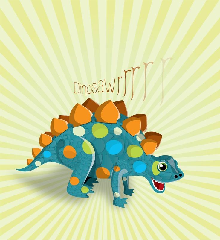 Dinosaurio realizado como elemento principal en una fiesta temática